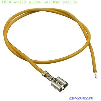 1008 AWG22 4.8mm L=300mm yellow