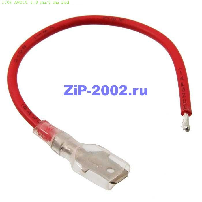 1009 AWG18 4.8 mm/5 mm red