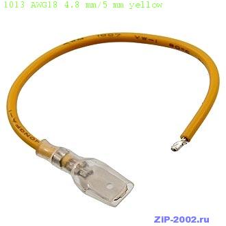 1013 AWG18 4.8 mm/5 mm yellow