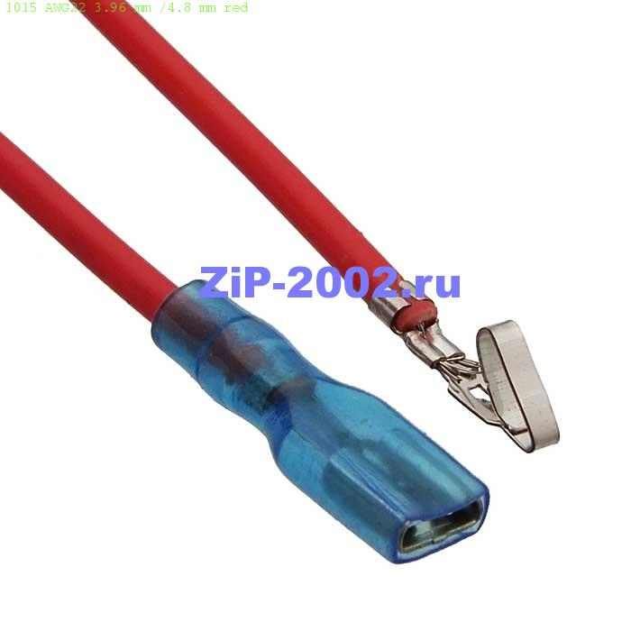 1015 AWG22 3.96 mm /4.8 mm red
