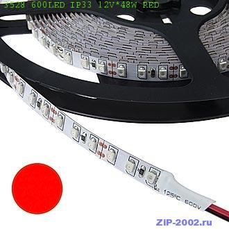 3528 600LED IP33 12V*48W RED