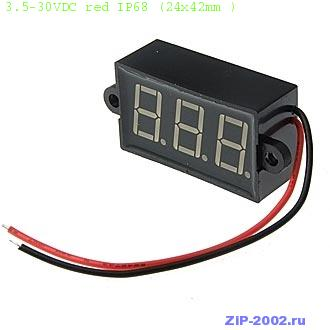 3.5-30VDC red IP68 (24x42mm )
