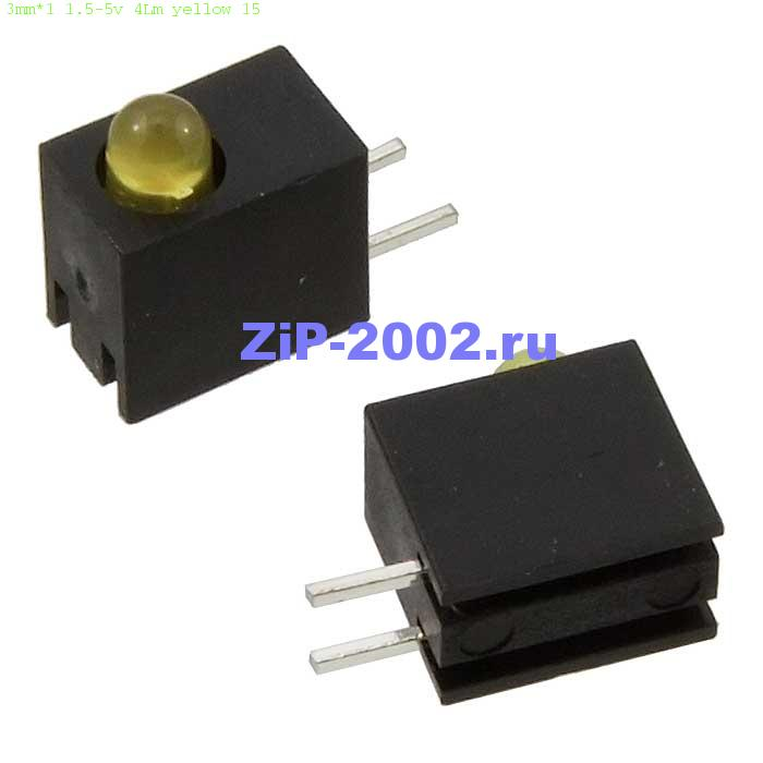 3mm*1 1.5-5v 4Lm yellow 15