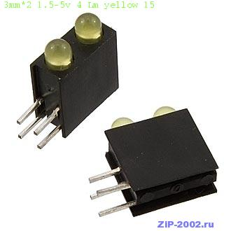 3mm*2 1.5-5v 4 Lm yellow 15