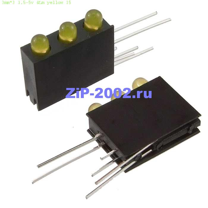 3mm*3 1.5-5v 4Lm yellow 15