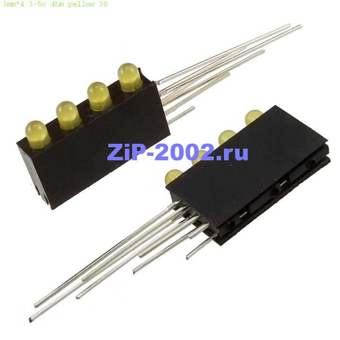 3mm*4 3-5v 4Lm yellow 30