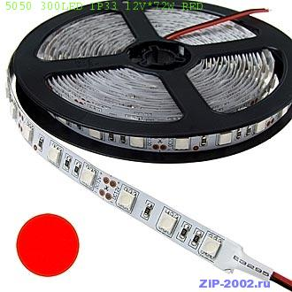 5050 300LED IP33 12V*72W RED