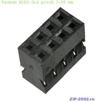Разъем BLD2-2x4 pitch 2.00 mm