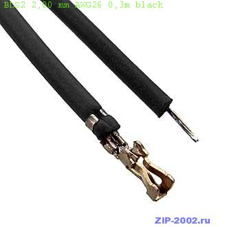 BLS2 2,00 mm AWG26 0,3m black