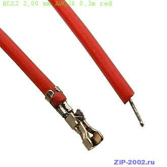 BLS2 2,00 mm AWG26 0,3m red