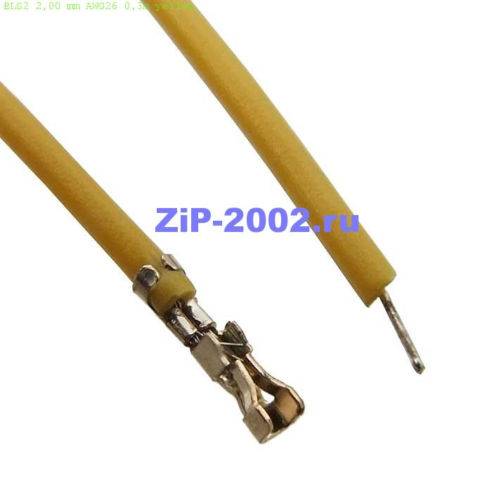 BLS2 2,00 mm AWG26 0,3m yellow