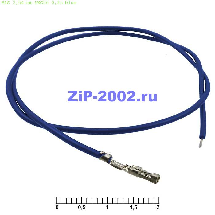 BLS 2,54 mm AWG26 0,3m blue
