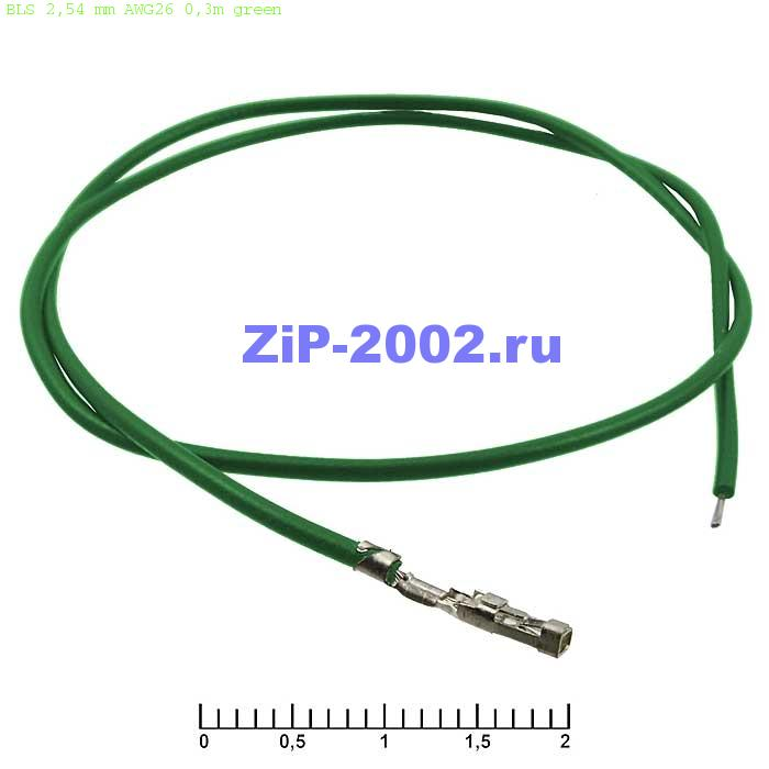 BLS 2,54 mm AWG26 0,3m green