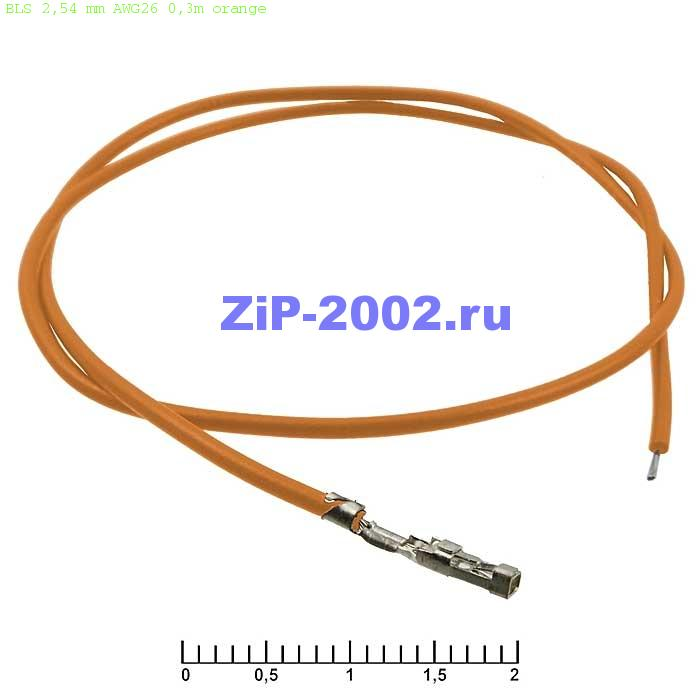 BLS 2,54 mm AWG26 0,3m orange