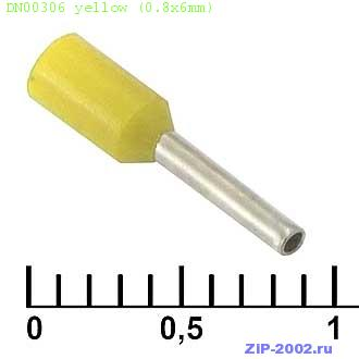 DN00306 yellow (0.8x6mm)
