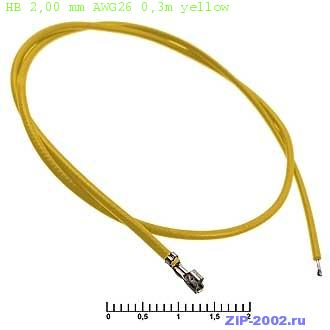 HB 2,00 mm AWG26 0,3m yellow