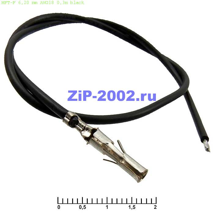 MFT-F 6,20 mm AWG18 0,3m black
