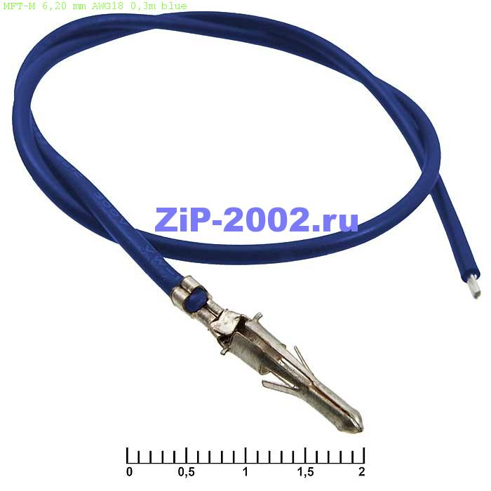 MFT-M 6,20 mm AWG18 0,3m blue