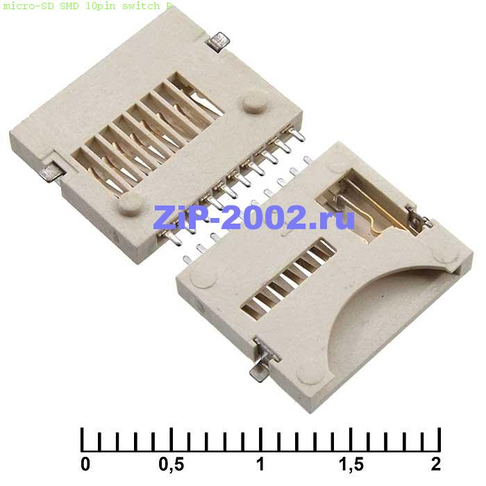 micro-SD SMD 10pin switch P