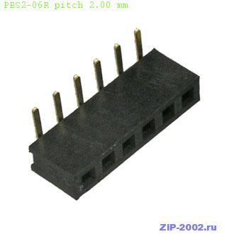 PBS2-06R pitch 2.00 mm