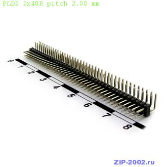 PLD2 2x40R pitch 2.00 mm