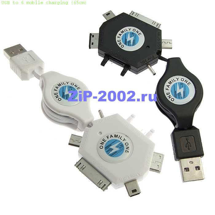 USB to 6 mobile charging (65cm)