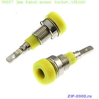 ZP007 2mm Panel-mount Socket,YELLOW