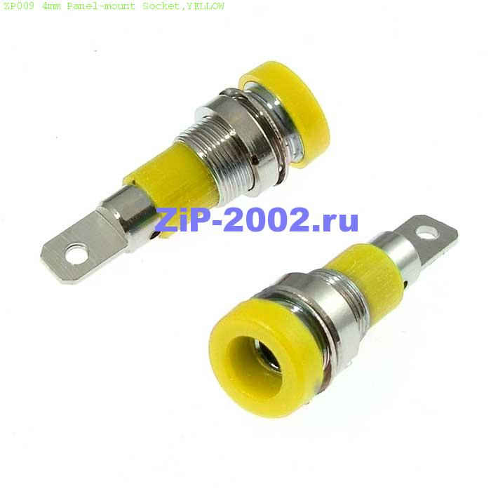 ZP009 4mm Panel-mount Socket,YELLOW
